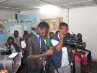 Prise de vue des journaliste lors de la conférence de presse